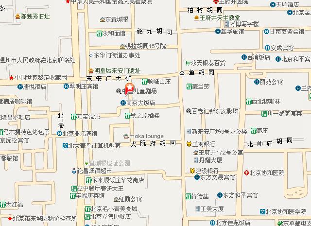 关于北京南京大饭店 电子地图